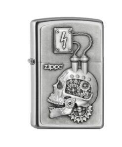 original zippo feuerzeug rauchen totenkopf skull power engine head