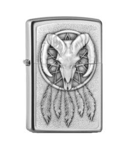 original zippo dreamcatcher traumfänger silber accessoire