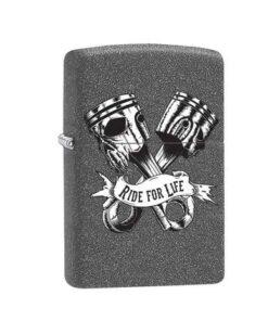original zippo feuerzeug ride for life grau accessoire