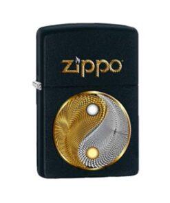 original zippo abstact ying yang schwarz gold feuerzeug rauchen accessoire