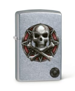 original zippo anne stocker skull totenkopf feuerzeug rauchen accessoire