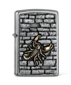 original zippo skorpion on the wall rauchen feuerzeug