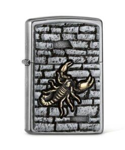 original zippo skorpion on the wall rauchen feuerzeug