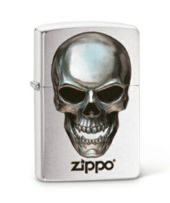 original zippo skull totenkopf silber feuerzeug rauchen accessoire