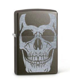 original zippo skull totenkopf feuerzeug schwarz rauchen accessoire