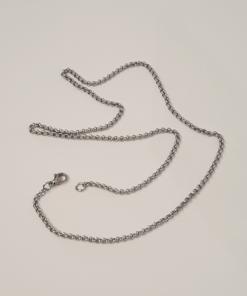 Halskette edelstahl silberoptik schmuck accessoire