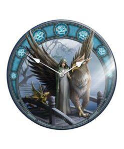 Woman And Eagle Wolf Glas Wanduhr Dekoartikel Nemesis Now