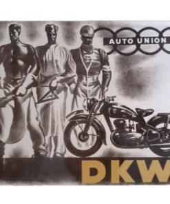 metallschild metalltafel dekoartikel schild retro vintage dkw