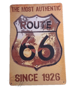 metallschild metalltafel dekoartikel schild retro vintage route 66