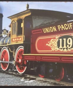 metallschild metalltafel dekoartikel schild retro vintage union pacific rr dampflock lokomotive