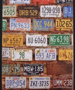 metallschild metalltafel dekoartikel schild retro vintage nummernschilder