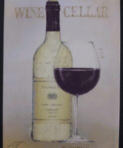 metallschild metalltafel dekoartikel schild retro vintage wine cellar wein