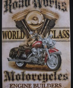 metallschild metalltafel dekoartikel schild retro vintage world class motorcycle motorrad bike