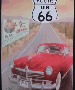 metallschild metalltafel dekoartikel schild retro vintage route 66 diner oldtimer