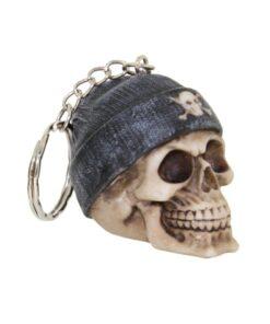Beanie Grey Totenkopf Skull Schlüsselanhänger Accessoire Nemesis Now