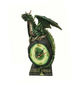 Emerald Crystal Clock Uhr Haushalt Dekoartikel Drache Dragon Nemesis Now