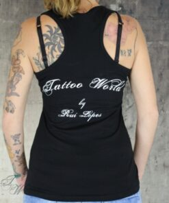 tattooworld shirt tanktop frauen oberteil mode fashion merchandise i love my tattooartist schwarz