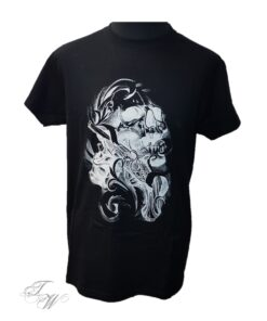 tattoo world shirt tshirt skull totenkopf blau schwarz merchandise herren oberteil fashion mode kleider