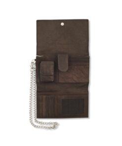 zippo brieftasche portemonnaie accessoire braun leder biker