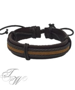 lederarmband accessoire schmuck braun schwarz