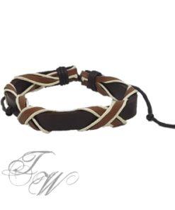 lederarmband accessoire schmuck braun
