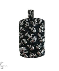 edelstahl schmuck anhänger halskette rostfrei skulls heavy totenköpfe