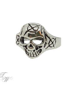 Edelstahl ring silberoptik schmuck rostfrei skull totenkopf