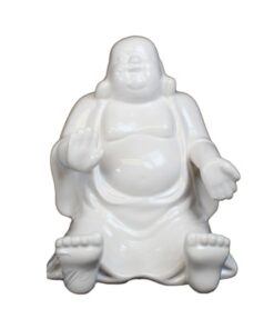 White Buddha Phone Holder and Saving Box Dekoartikel Statue Nemesis Now