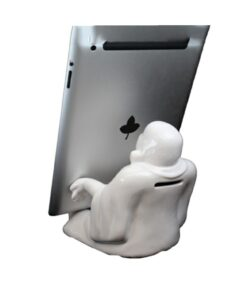 White Buddha Phone Holder and Saving Box Statue Dekoartikel Handyhalterung Nemesis Now