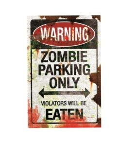 Zombie Parking Schild Dekoartikel Nemesis Now