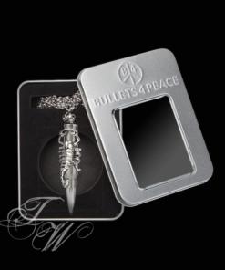 bullets 4 peace patrone accessoire schmuck halskette rostfrei skorpion