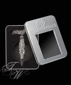 bullets 4 peace patrone accessoire schmuck halskette rostfrei let peace out frieden