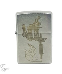 tattoo world zippo merchandise gravur tattoomachine silber