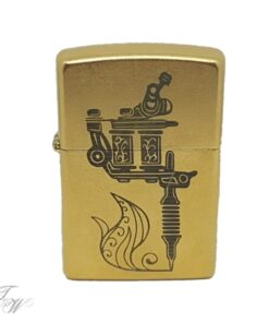 tattoo world zippo merchandise gravur tattoomachine gold
