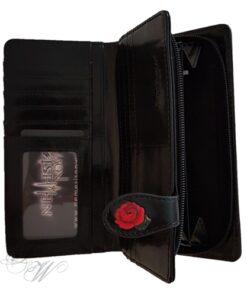 brieftasche portemonnaie accessoire nemesis now schwarz totenkopf candy skull rosen