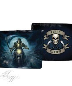 brieftasche portemonnaie accessoire nemesis now hell rider biker sensemann reaper schwarz