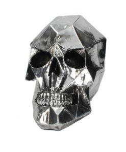 Geometric Skull Totenkopf Silber Statue Dekoartikel Nemesis Now