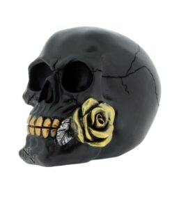 Black Rose From Death Skull Totenkopf Statue Dekoartikel Nemesis Now
