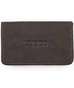 zippo cardholder kartenhalter leder echtleder accessoire braun