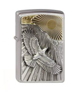 original Zippo eagle sun fly adler sonne feuerzeug acxessoire rauchen