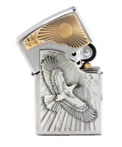 original zippo eagle sun fly adler sonne feuerzeug accessoire rauchen