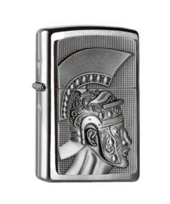 original zippo roman römer feuerzeug rauchen accessoire silber
