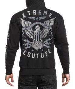 xtreme couture hoodie sweater schwarz eagle adler fashion mode herren oberteil kapuze kleider