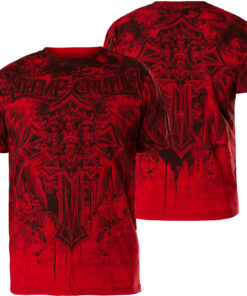 xtreme couture lifetaker shirt tshirt oberteil rot kleider fashion herren mode