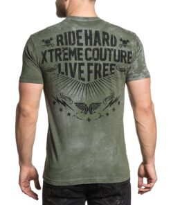 xtreme couture shirt tshirt the legendary grün mode fashion oberteil herren kleider