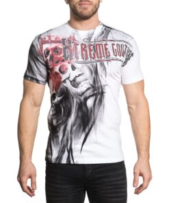 xtreme couture blood skull totenkopf shirt tshirt oberteil herren weiss mode fashion kleider