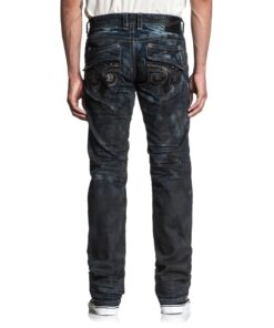 affliction black fleur jeans hosen mode fashion dunkelblau herre kleider