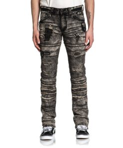 affliction gage fallen jeans hosen mode fashion grau herre kleider
