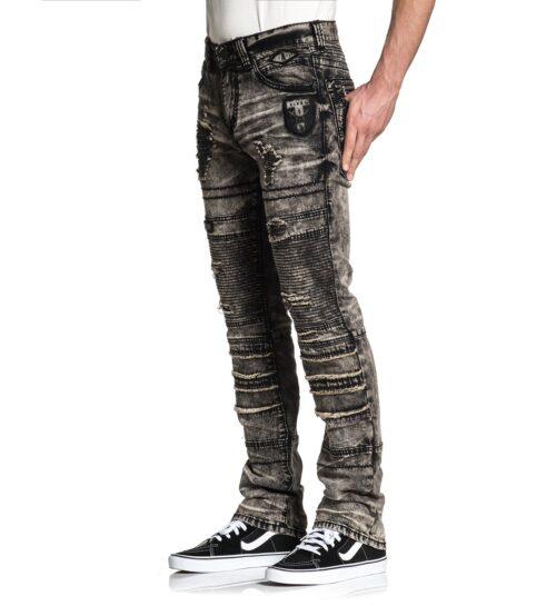 affliction gage fallen jeans hosen mode fashion grau herre kleider