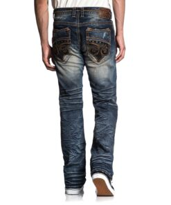 affliction fleur jeans hosen mode fashion blau herre kleider